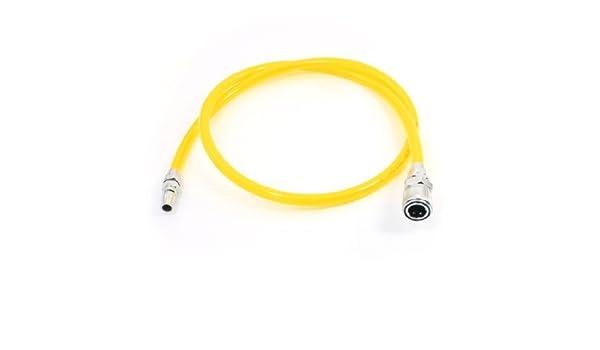 1/2 rápida guarniciones 12x8mm compresor de aire de la PU tubo manguera del 1M - - Amazon.com