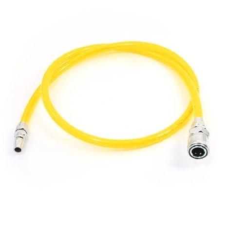 Medio Quick Fittings 10x6.5mm compresor de aire PU tubo de la manguera 1 Meter: Amazon.es: Coche y moto