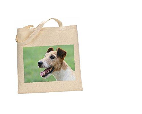 Fox Terrier Hund Tasche aus 100% Baumwolle (FC) # 111