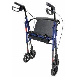 Lumex Set n™ Go Wide Height Adjustable Rollator -Burgundy - Each 1