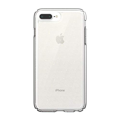 Speck Products GemShell Cell Phone Case for iPhone 8 Plus/7 Plus/6S Plus – Clear with Gold Glitter/Clear