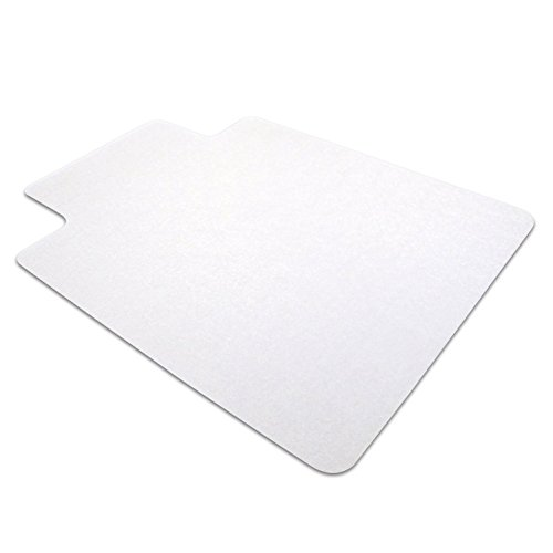 "Floortex Phthalate-Free PVC Chair Mat for Hard Floors, 36"" x 48"", Rectangular with Lip, Clear (PF129020LV)"