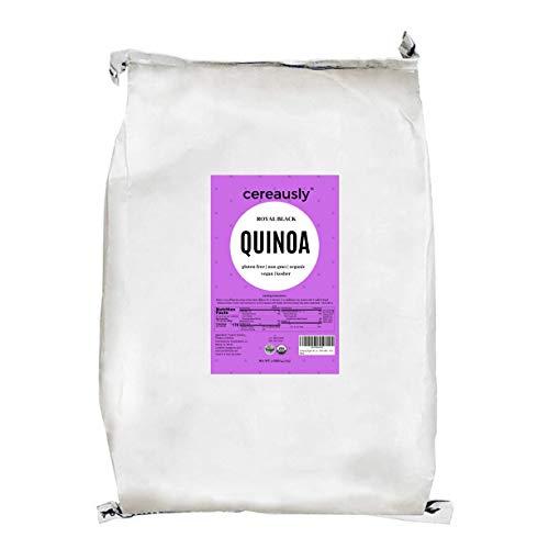 CEREAUSLY Organic Black Quinoa in Bulk   10 Lb   Restaurants   Wholesale   Bolivian   Royal   NON-GMO   Kosher   Gluten-Free   Vegan