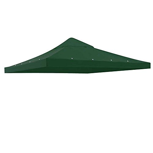Yescom 10'x10' Gazebo Canopy Replacement 1 Tier Outdoor Patio Garden UV30+ 200g/sqm Green Top Cover