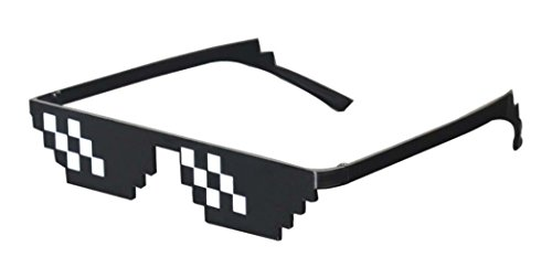 Thug+Life+Sunglasses+Pixelated+Mosaic+8-Bit+Gamer+Geek+One+Piece+Glasses