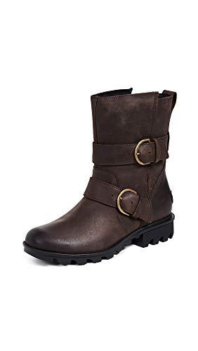 (Sorel Women's Phoenix Moto Boots, Ready/Cattail, Brown, 9 M)