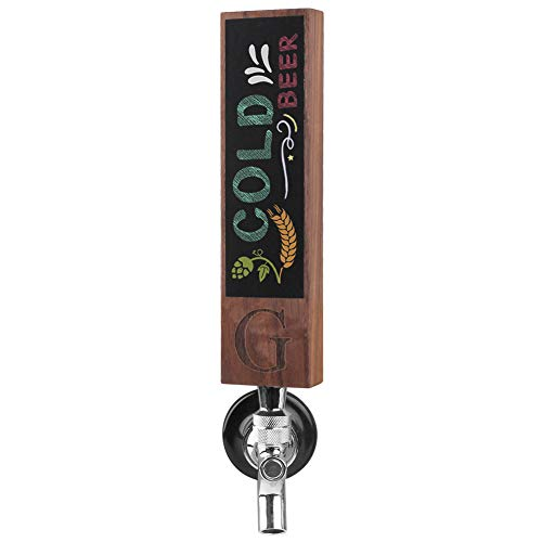 Monogrammed G Beer Tap Handle for Home Bar(from Alphabet 26 A-Z) Perfect For Brewery, Laser Engraved Chalkboard Tap Handles, Beer Brew Gift, 8 Inch Tall Walnut Wood