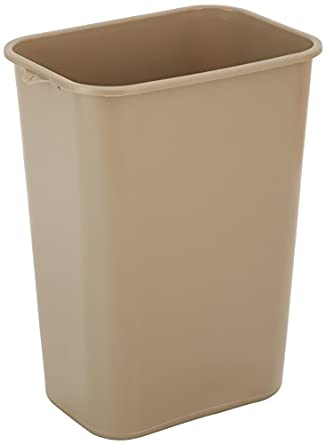 """Impact 7703-15 Pinch'm Plastic Rectangular Soft-Sided Wastebasket, 41 qt Capacity, 15-1/4"""" Length x 11"""" Width x 20"""" Height, Beige (Case of 12)"""