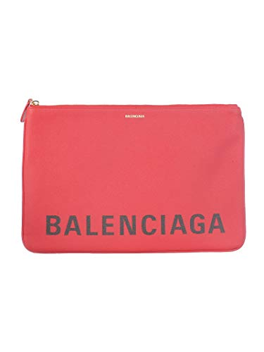 Balenciaga Women's 5293130Otdm6575 Red Leather Clutch