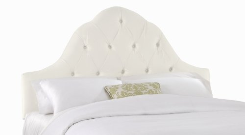- Skyline Furniture Kostner Arched Full Headboard, Shantung Parchment