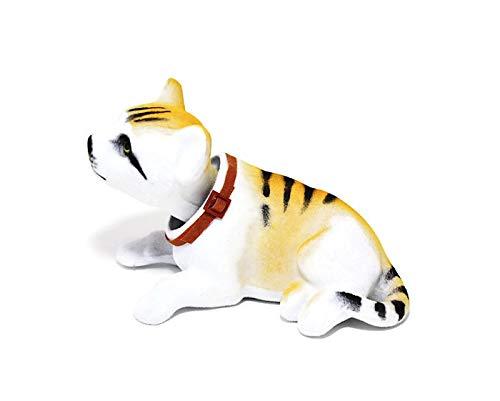 Batty Bargains Adorable Dashboard Bobblehead Tabby Kitten Cat (Orange) - Orange Bobble Head