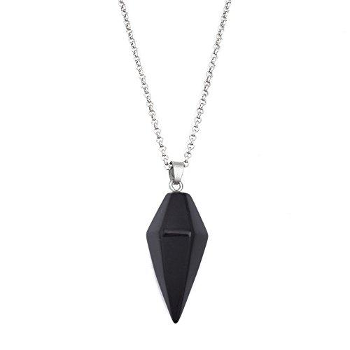 Quartz Necklace Crystal Point Conical Pyramid Layering Healing Quartz Pendant Necklace 18