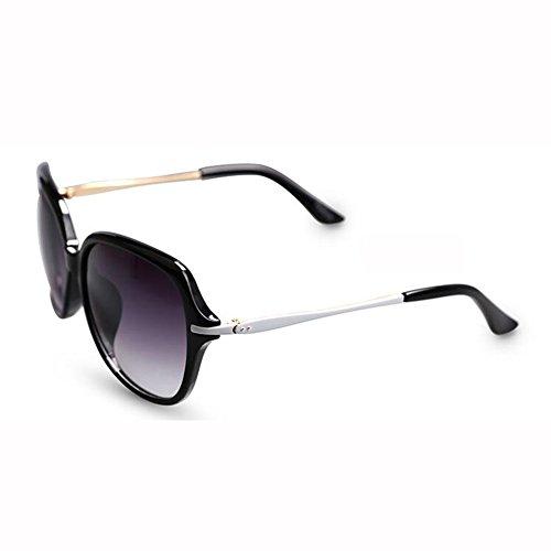 Elegante WX Redonda Color Delgadas Gafas Gafas De Anti Sol UV Moda Manejar Piernas Hembra Grande Purple xin Cara Caja Blanco 446qwA