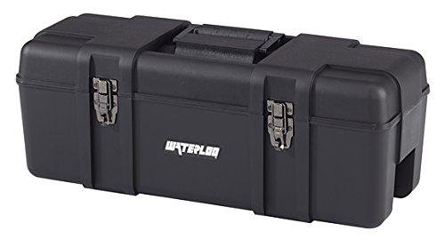 Waterloo Portable Series 26-Inch Wide Plastic Hand Box, Black (PP-2610BK) by Waterloo