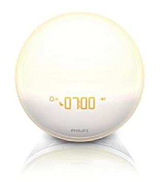 Philips IPhone Controlled Wake Up Light With Colored Sunrise Simulation,  White