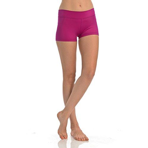 ANZA Womens Active Wear Dance Booty Shorts-Raspberry,Medium - Raspberry Collection