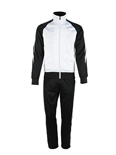 Mens Outdoor 2 Piece Jacket Pants Track Suit Sport Sweat Suit Set