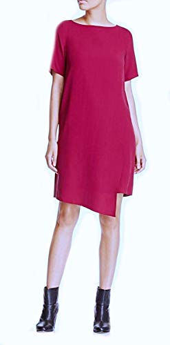 (Eileen Fisher Silk Georgette Crepe Hibiscus Dress S Small MSRP $358.00)