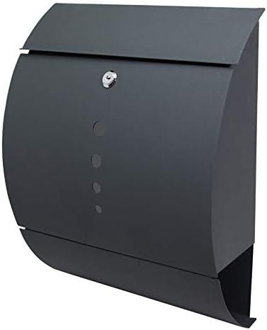 Froadp Briefkasten Wandmontage Postkasten mit Verzinkter Stahl Zeitungsfach Wetterfest Design Mailbox Pulverbeschichtet Sch/öne Optik-Briefkasten Anthrazit Mode D