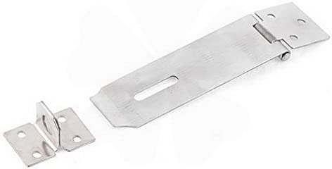"""Hasps Cabinets Gates Padlock Latch 4.9"""" Long Stainless Steel Hasp Staple by Fuxell"""
