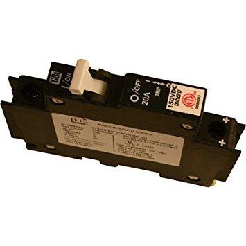 MidNite Solar Photovoltaic DC Circuit Breaker - 20 Amp, Model# MNEPV20 by MidNite Solar