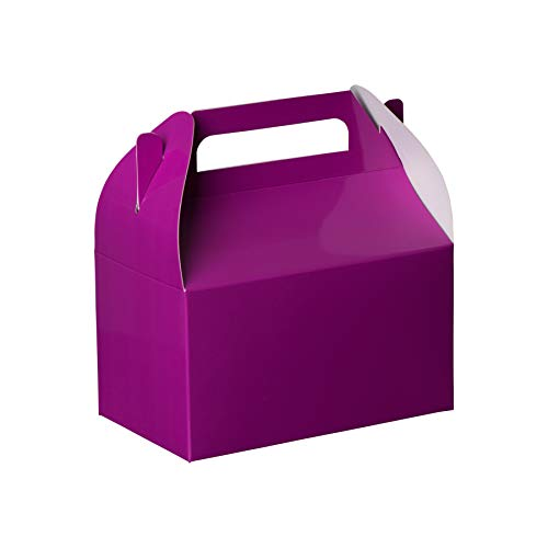 Hammont Purple Colored Paper Treat Boxes -Party Favors Treat Container Cookie Boxes Cute Designs Perfect for Parties and Celebrations 6.25