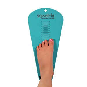 Squatchi Kids Shoe Sizer, Aqua Blue, 2T-5Y
