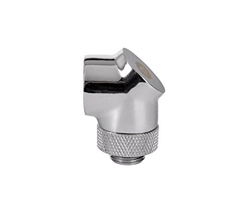 (Thermaltake Pacific DIY LCS Chrome G1/4 90 Degree Adapter Fitting (CL-W052-CU00SL-A))