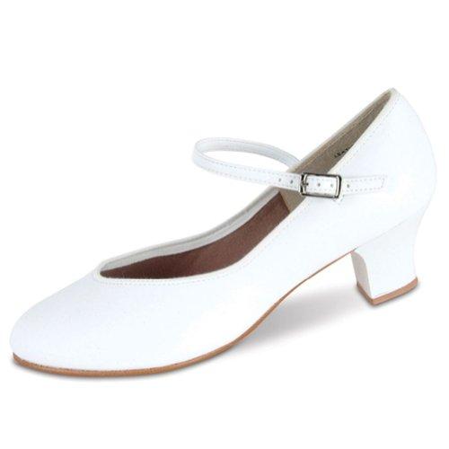 Danshuz Womens White Character Tap Queen Dance Shoes Size 8.5