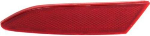 Rear Bumper Ford Focus (Crash Parts Plus Direct Fit Rear, Driver Side Bumper Reflector for 12-16 Ford Focus FO1184101C)