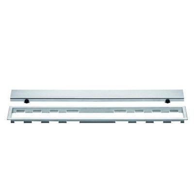 Kerdi-Line Brushed Stainless Steel 36 in. Metal Closed Drain Grate Assembly