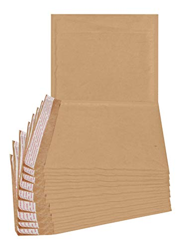 ABC 25 Pack Natural Kraft Padded envelopes 7.25 x 7 Bubble Mailers 7 1/4 x 7 CD Size mailers. Peel and Seal. Brown Padded Shipping envelopes for mailing,Packing. Square Packaging. Bulk, Wholesale. ()