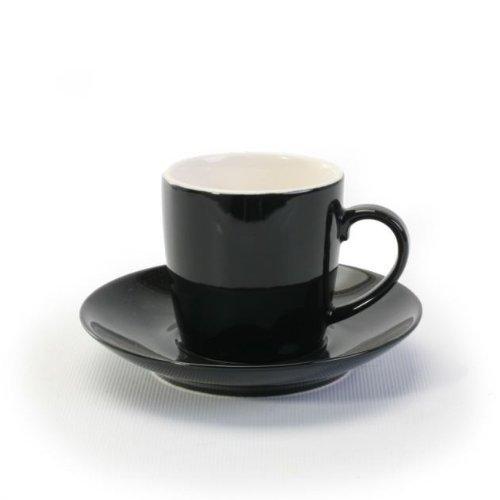 BIA Cordon Bleu 2 Tone Black Espresso Cup and Saucer