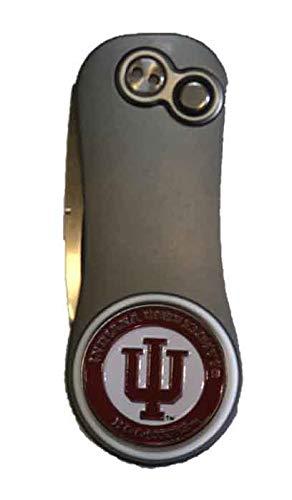 ピッチフィックス インディアナ大学 フージャーズ ハイブリッド ガンメタル レッド ゴルフ ディボットツール NCAA   B07N6KKXY4