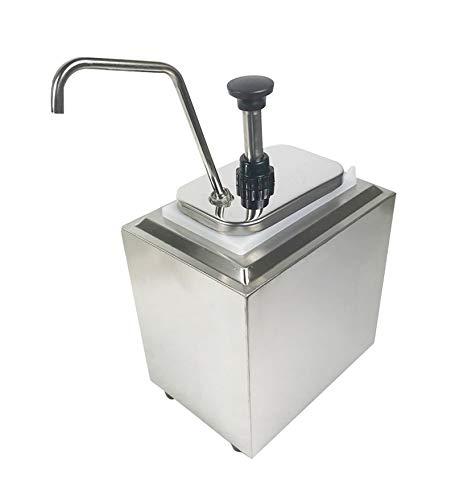 INTBUYING Stainless Steel Condiment Pump Single Head Sauce Dispenser Kitchen Restaurant by INTBUYING
