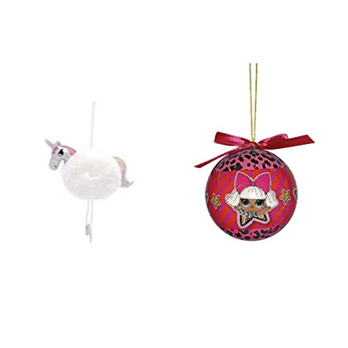 L.O.L Surprises Christmas Ornament and Unicorn Ornament (Big For Christmas Surprise)