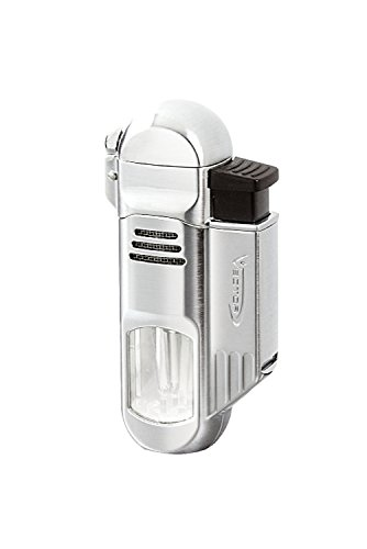 (Vector Torpedo - Quad Flame Torch Lighter - Polished Chrome)