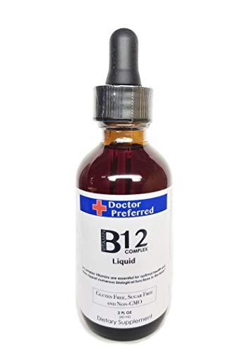 Vitamin B12 Complex Liquid Sublingual Drops Fast Absorption B2, B3, B5, B6 and B12. 2 fl oz - 60 Day Supply