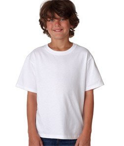 Loom Youth Tshirt - Fruit of the Loom Heavyweight Youth Short Sleeve T-Shirt - WHITE - large