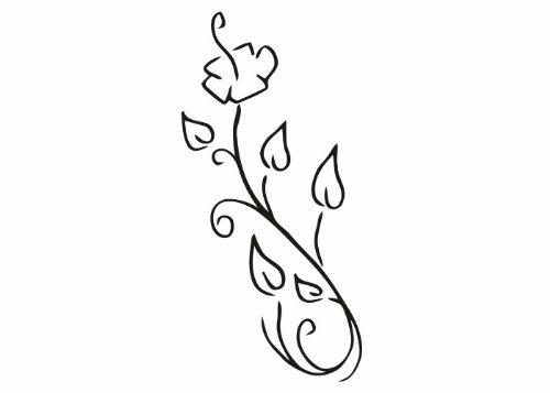Wandtattooladen Wandtattoo - Frühlingsblümchen Größe 77x160cm Farbe  weiß B013R814P6 | Öffnen Sie das Interesse und die Innovation Ihres Kindes, aber auch die Unschuld von Kindern, kindlich, glücklich