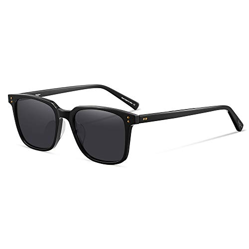 G15 Lens Sunglasses - Retro Square Sunglasses Men HD G15 Tempered Real Glasses Polarized Lens Straight-brow