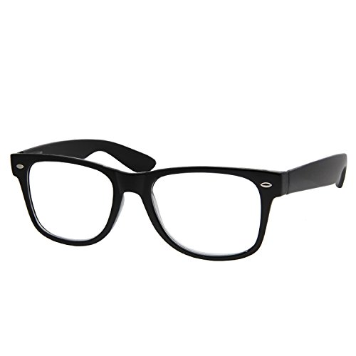 High Magnification Power Readers Wayfarer Reading Glasses 4.00-6.00 - With Lenses Magnifying Glasses