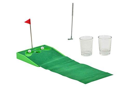 Item Table Golf Putting Shot Glass Drinking Game Set ()