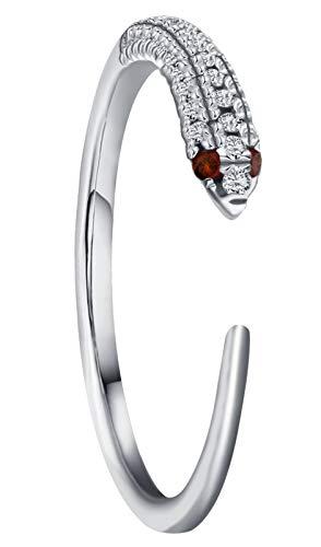 Gold Diamond Snake Ring - Goldenstar 0.17Ct.White Diamond Ring, 10k White Gold Snake Ring, Size 5
