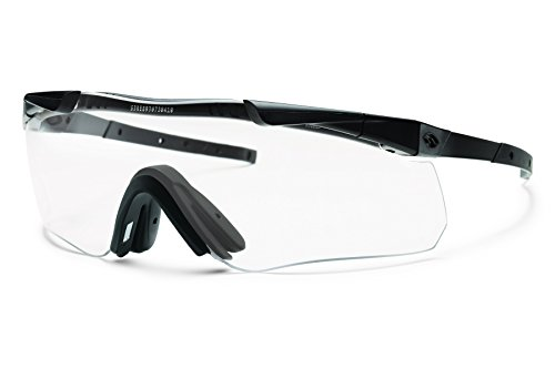 Smith Optics Elite Aegis Echo II Asian Fit Eyeshields Sunglass with Black Frame and Clear/Gray - Asians Best Glasses For