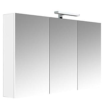 Allibert Armoire Miroir De Toilette éclairante 120 Cm Juno 3 Portes
