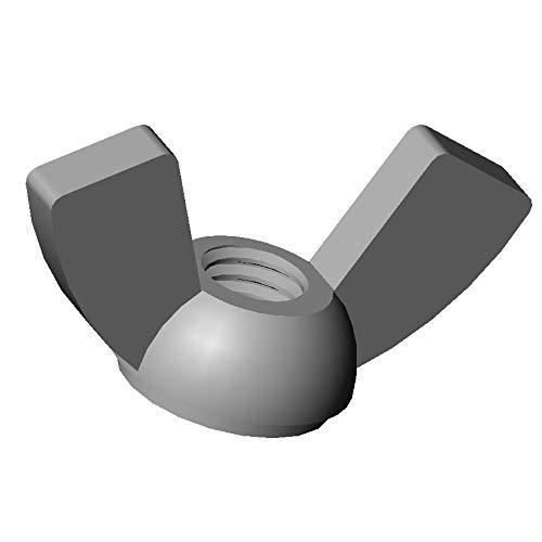 ajile - 20 pièces - Écrou papillon à oreilles nylon diam. M8 plastique polyamide PA6.6 isolant - Écrou à ailettes