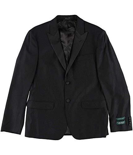 (Lauren by Ralph Lauren Mens Two Button Classic Fit Blazer Black 40)