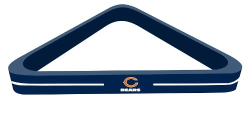 Imperial Officially Licensed NFL Merchandise: Wood Triangle Billiard/Pool Ball Rack, Chicago Bears