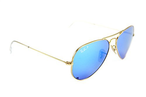 Ray-Ban RB3025 112/4L Aviator Sunglasses Blue Mirror Polarized Lens 58mm